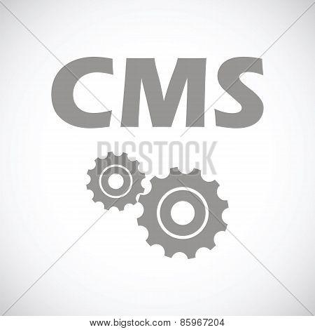 Cms black icon