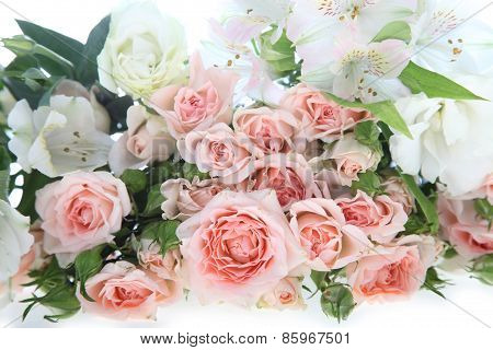 Bouquet Of Pink And White Flowers