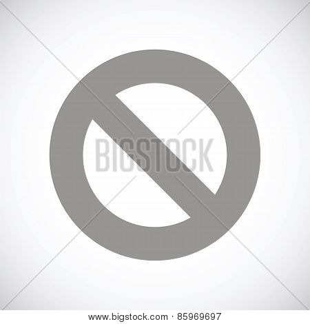 Ban black icon