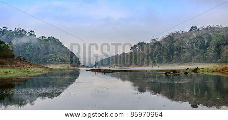 Morning landscape in National park