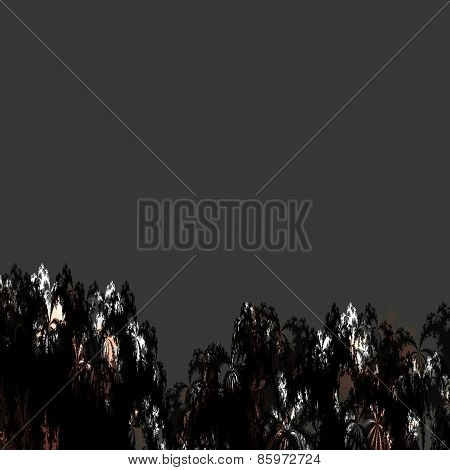 Abstract fractal pattern reminiscent of tropical forest