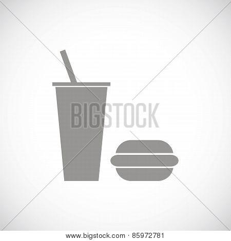 Fast food black icon