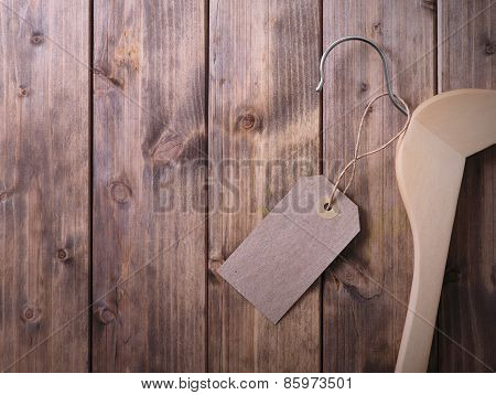 Coat Hanger With Blank Tag