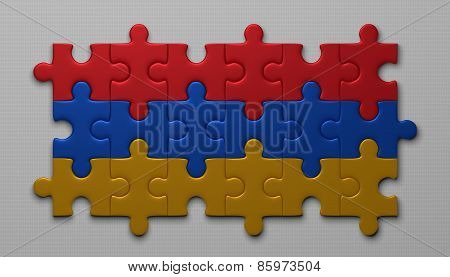 Armenian Flag Of Puzzle Pieces