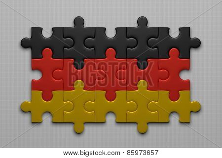 German Flag Of Puzzle Pieces
