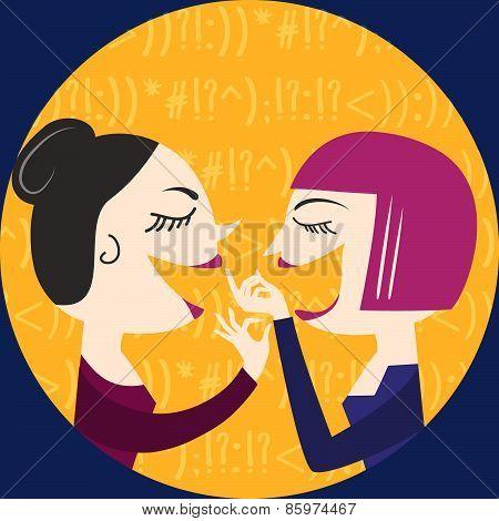 Gossiping Women