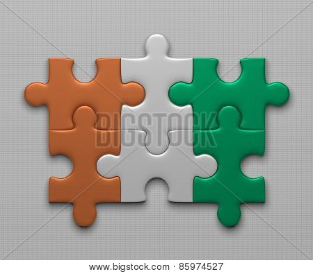 Ivory Coast Flag Of Puzzles