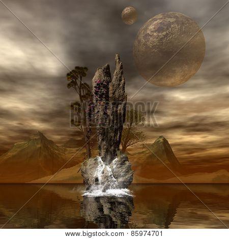 Amazing fantasy landscape