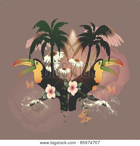 Funny toucans