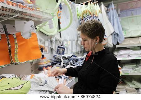 Girl At Baby Store