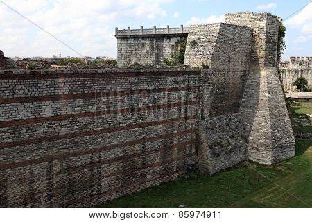 Part Of Wall Of Yedikule Fortress