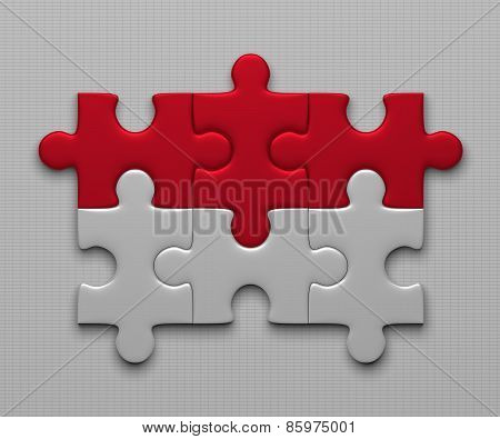 Indonesia Flag Of Puzzles