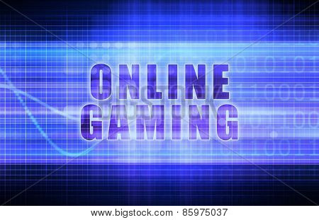 Online Gaming on a Tech Business Chart Art