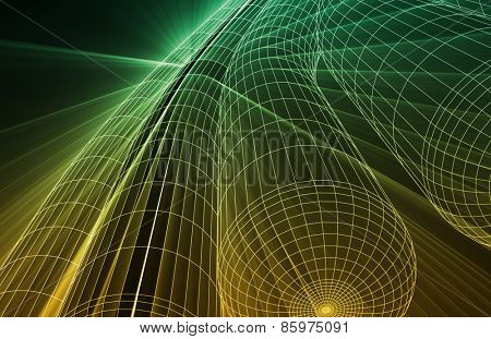 Wireframe Mesh Engineering Abstract as a Concept