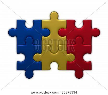 Romania Flag Of Puzzles