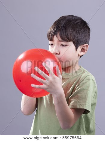 Boy And Red Balloon.