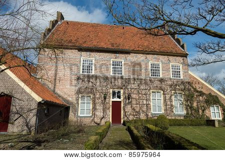 Netherlands - Bronckhorst - Circa March 2015: Historic Mansion In The Smallest Town Of The Netherlan