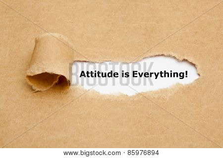 Attitude Is Everything Torn Paper Concept
