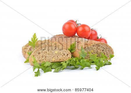 Fresh Bread And Vegetables