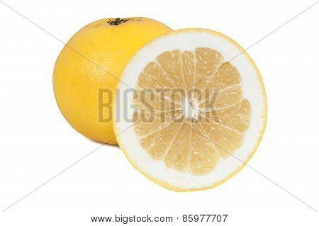 Grapefruits On White Background