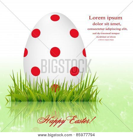 Easter Egg In The Grass Greeting Card