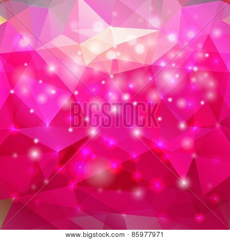 Modern abstract polygonal pink background