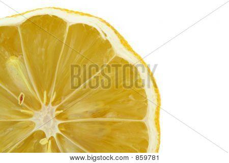 lemon profile on white