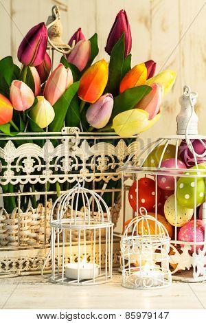 Easter birdcage