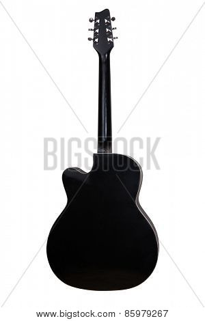 guitar back side isolated on white background