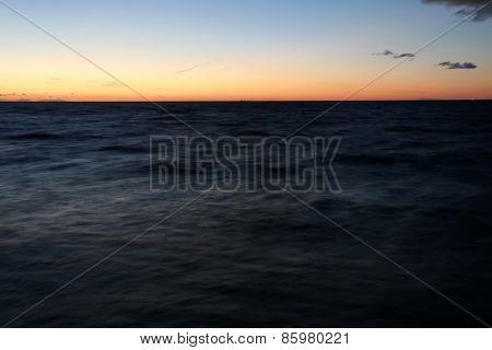 Blue Sea In Evening