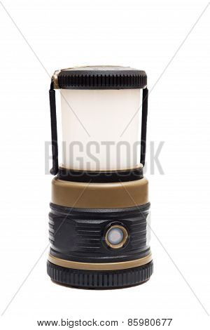 Flashlight On White With Clipping Path