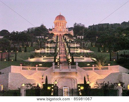 Haifa Bahai Gardens Night 2003