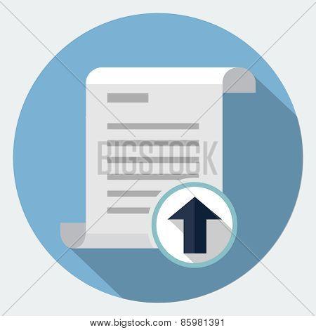 Vector file upload icon