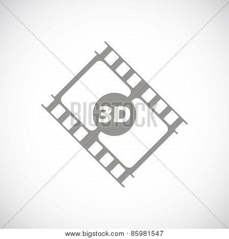 3d film black icon