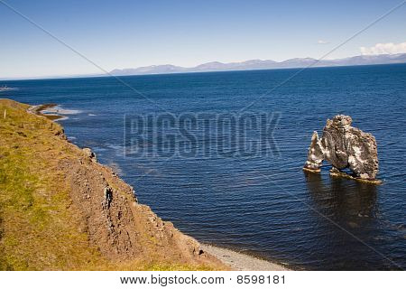 Hvitserkur Rocks Formation In Iceland.