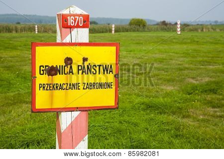 Polish border post.