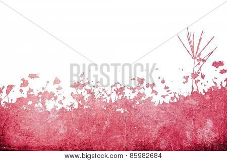 floral style textures isolated on white-with space for your design