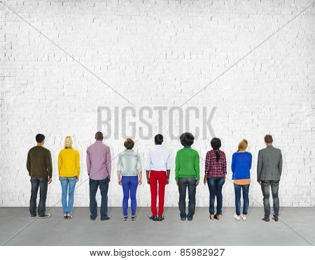Diversity Casual People Standing Ideas Inspiration Team Concept
