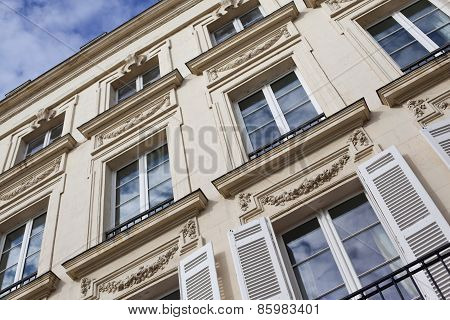 Facade of a French building