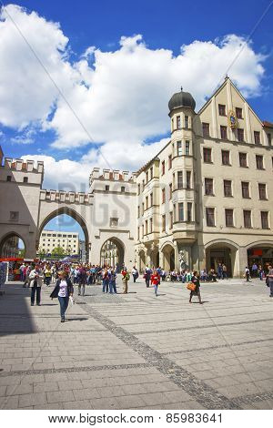 Karlstor Fortress Gate In Munich