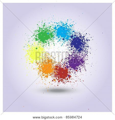 Vector rainbow of paint spray