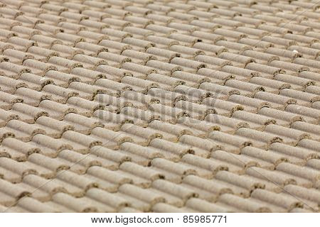 Brown Tiles Roof Texture Architecture Background