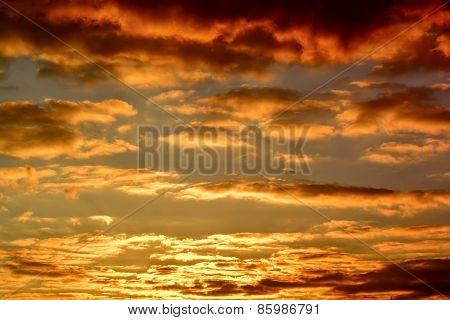 Sky View Sunset Orange