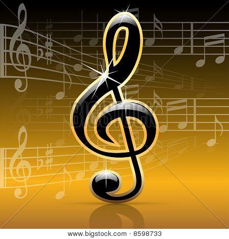 Notas de música-melodia