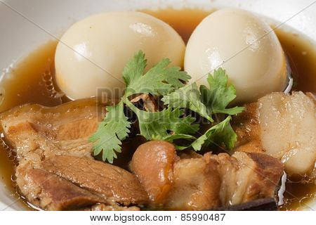 Eggs And Pork In Brown Sauce
