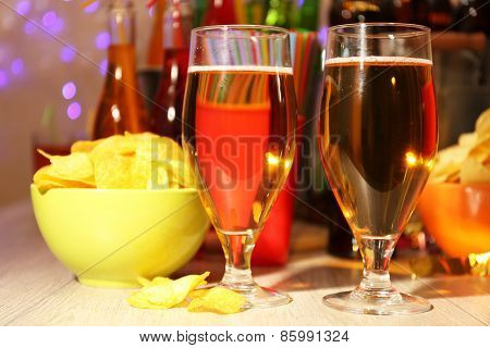 Prepared table with drink for party