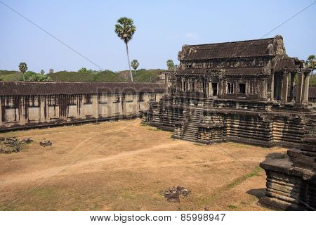 Ruins Of Ancient Khmer Temple - Angkor Wat