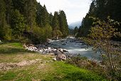 image of genova  - Mountain river in Genova valley Natural Park Adamello Brenta Italy - JPG