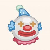 stock photo of clown face  - Circus Clown Theme Elements Vector - JPG