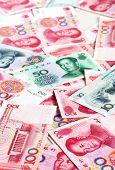 stock photo of yuan  - Chinese yuan banknotes - JPG